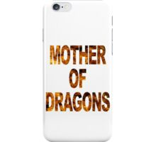 Mother of dragons funny nerd iPhone Case/Skin