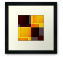 Purple and Yellow Leather patchwork 2 Framed Print
