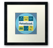 I'm helveticool Framed Print