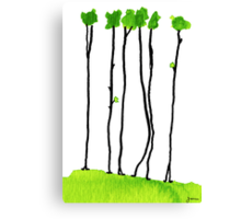 Truly long tree trunks Canvas Print