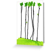 Truly long tree trunks Greeting Card