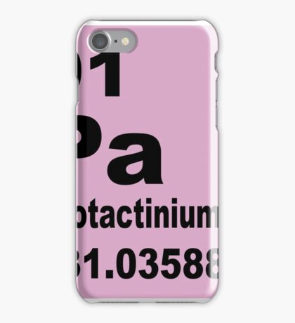 Protactinium Periodic Table of Elements iPhone Case/Skin