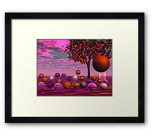 Bittersweet Opinion, Abstract Copper Raspberry Maple Tree Framed Print