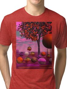 Bittersweet Opinion, Abstract Copper Raspberry Maple Tree Tri-blend T-Shirt