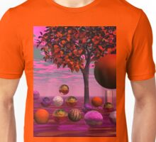 Bittersweet Opinion, Abstract Copper Raspberry Maple Tree Unisex T-Shirt