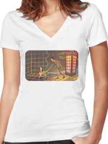 Let's Go - Abed & Annie Women's Fitted V-Neck T-Shirt