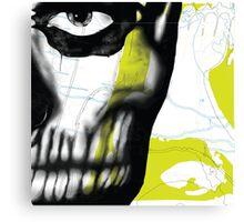 Rick Genest#1 - Limegreen Canvas Print