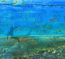 Textural Surfer on a Painted Hull (with a yellow dog in the sky..) by Mark Haynes Photography