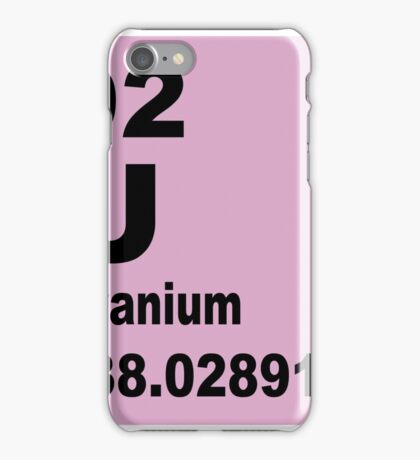 Uranium Periodic Table of Elements iPhone Case/Skin