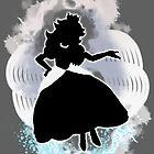 Super Smash Bros. White Peach Silhouette by jewlecho