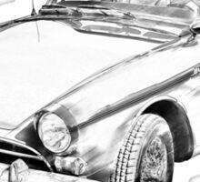 Alpine 5 Sports Car Illustration Sticker