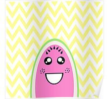 Funny Cute Watermelon Face Poster