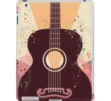 Retro Guitar Poster iPad Case/Skin