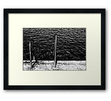 Into the Black Framed Print