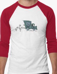 skull truck Men's Baseball ¾ T-Shirt