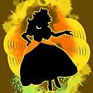 Super Smash Bros. Daisy colored Peach Silhouette by jewlecho
