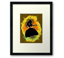 Super Smash Bros. Daisy colored Peach Silhouette Framed Print