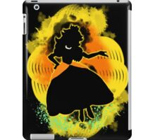 Super Smash Bros. Daisy colored Peach Silhouette iPad Case/Skin