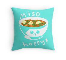 MisoHappy Soup! Throw Pillow