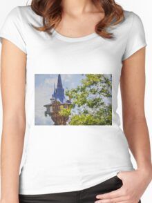 Rapunzel's Tower Women's Fitted Scoop T-Shirt