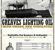 Greaves Lighting Oil Dishonored Poster by Will Blundell