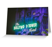 The Hollywood Tower Hotel Greeting Card