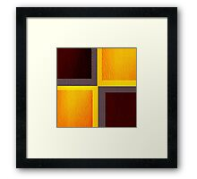 Purple and Yellow Leather patchwork 3 Framed Print