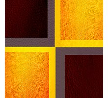 Purple and Yellow Leather patchwork 3 Photographic Print