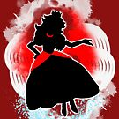Super Smash Bros. White/Red Fire Peach Silhouette by jewlecho