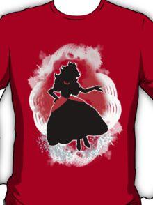 Super Smash Bros. White/Red Fire Peach Silhouette T-Shirt