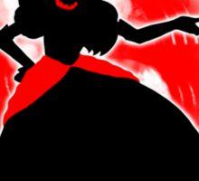 Super Smash Bros. White/Red Fire Peach Silhouette Sticker