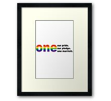 With accents geek funny nerd Framed Print