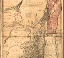 Provinces of New York and New Jersey (1768) Sticker