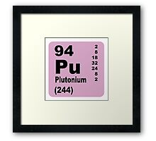 Plutonium Periodic Table of Elements Framed Print