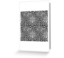 Black and White Abstract Flowers Design Greeting Card