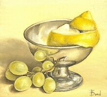 Lemon and grapes study by tanyabond