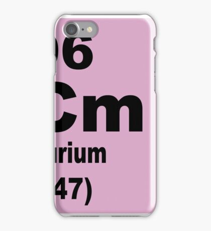 Curium Periodic Table of Elements iPhone Case/Skin