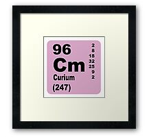 Curium Periodic Table of Elements Framed Print