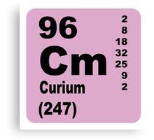Curium Periodic Table of Elements Canvas Print