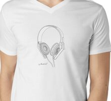 Headphone Mens V-Neck T-Shirt