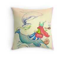 The Genius and the lamp Throw Pillow