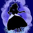 Super Smash Bros. Blue Peach Silhouette by jewlecho