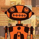 Orange Robot by Rob Colvin