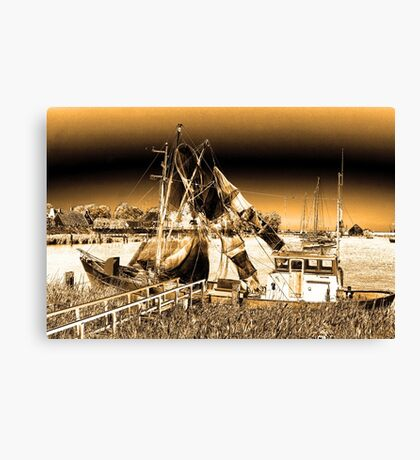 Dutch Fishing Trawler Canvas Print
