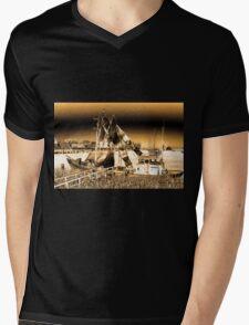 Dutch Fishing Trawler Mens V-Neck T-Shirt