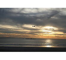 Small plane flying over Cape Town  Photographic Print