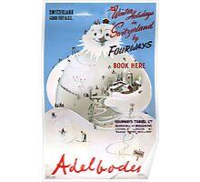 Switzerland Adelboden Vintage Travel Poster Poster