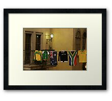 The Rugby World cup , who do you support? Framed Print
