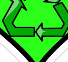 Green @ Heart Sticker