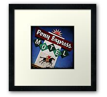 Pony Express Motel Framed Print